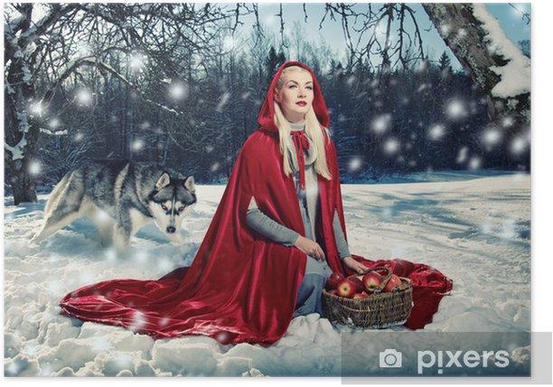 Plakat Red Hood i Wilk za nią - Inne