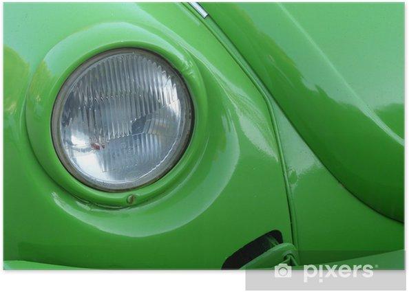 Plakat Reflektor zielonym samochodu kompaktowego siedemdziesiątych - Transport drogowy