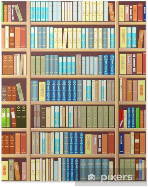 Plakat Regał z książkami - Biblioteczka