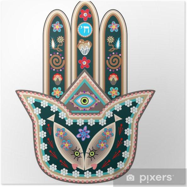 Plakat Ręka Fatimy - Religie