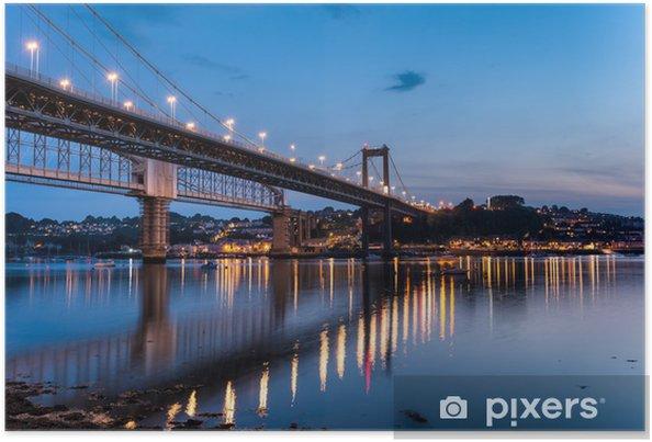 Plakát Řeka Tamar Plymouth - Evropa