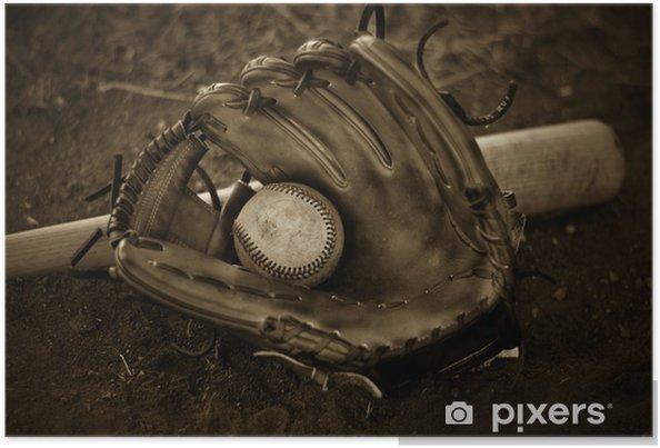 Plakat Rękawica bejsbolowa - Sporty na świeżym powietrzu