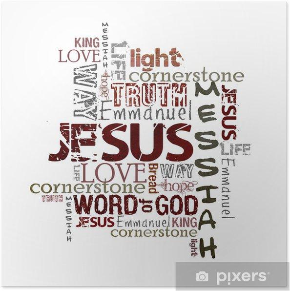 Plakat Religijne Słowa Na Białym