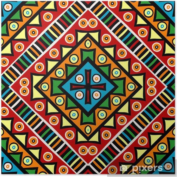 Plakat Religijnych motywów etnicznych tekstury - Tła