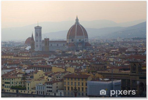 Plakat Renaissance katedra Santa Maria del Fiore we Florencji, Włochy - Europa