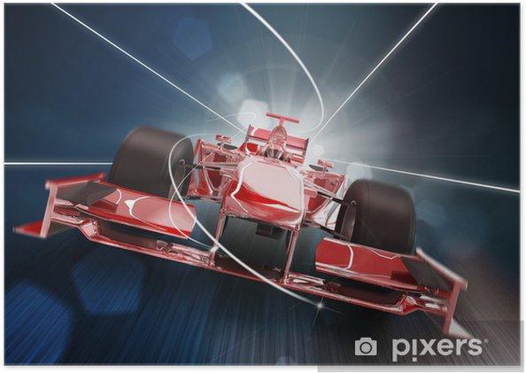 Plakat Renderowania 3D, Formula One Concept Car - Tematy