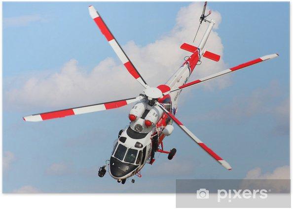 Plakat Rescue helikopter w akcji. - Transport powietrzny