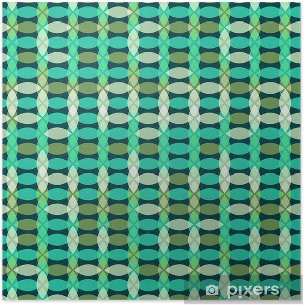 Plakat Retro bez szwu geometryczny wzór - Abstrakcja