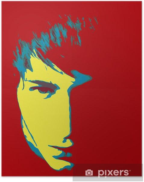 Plakat Retro człowiek graficzny - Inne uczucia