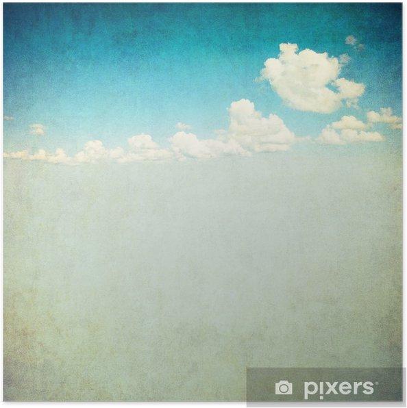 Plakat Retro obraz pochmurne niebo - Style