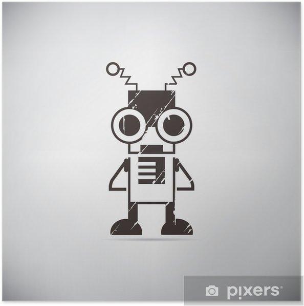 Plakat Retro robot kreskówki - Hobby i rozrywka