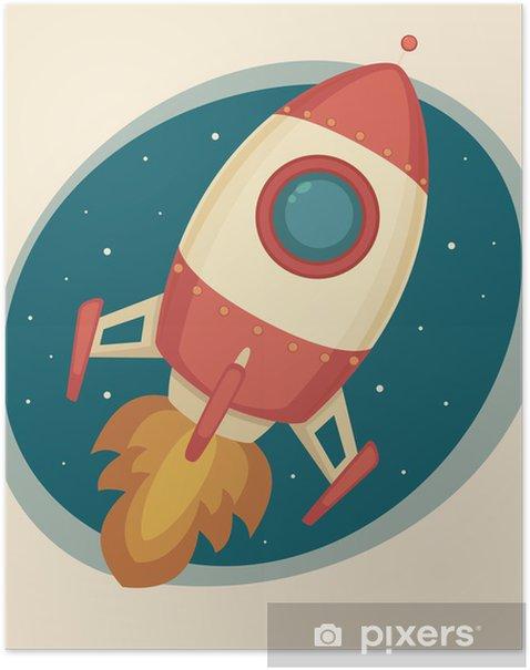 Plakat Retro Rocket - Tematy
