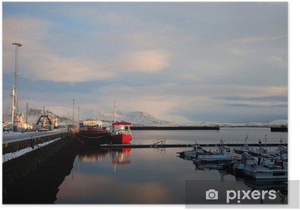 Plakat Reykjavik - Wakacje