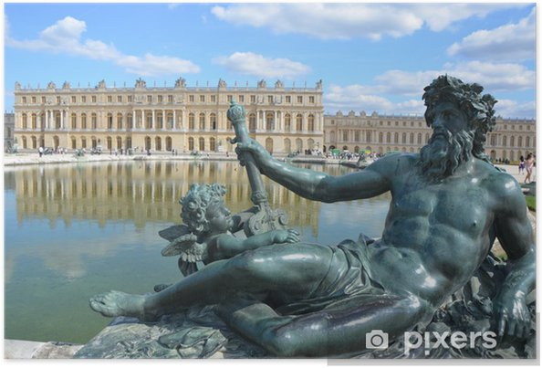 Plakat Rezydencji Królewskiej W Wersalu Pod Paryżem We Francji