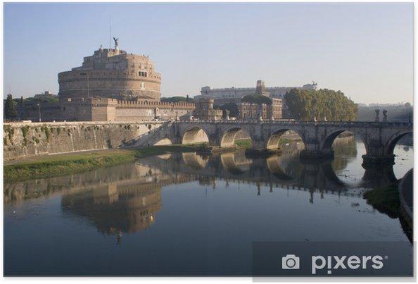 Plakát Řím - Angels hrad a most v noci - Témata