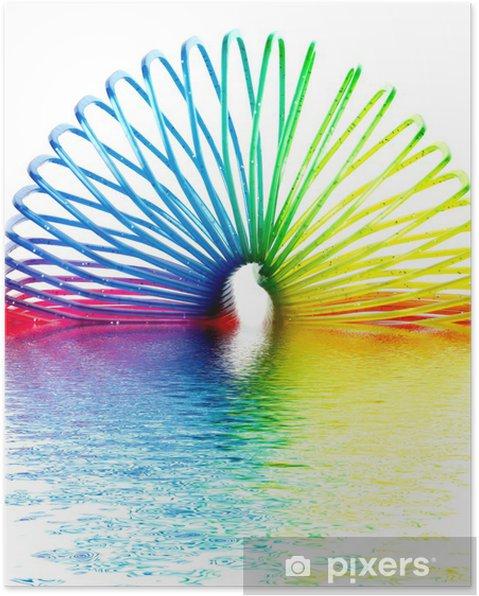 Plakat Ring Of Kolorów Z Odbicia W Wodzie