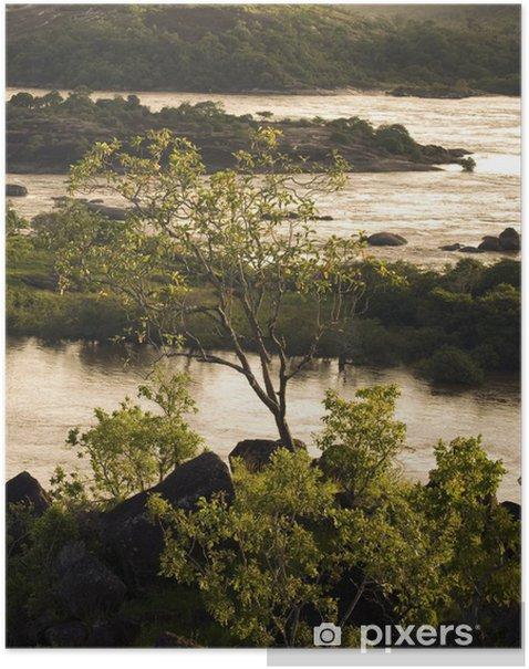 Plakat Rio Orinoco sunset - Ameryka