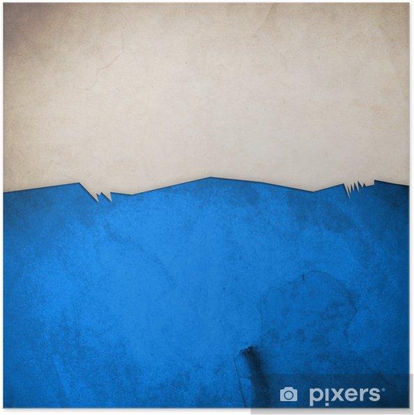 Plakat Riped starego papieru na tle ściany grunge - Sztuka i twórczość