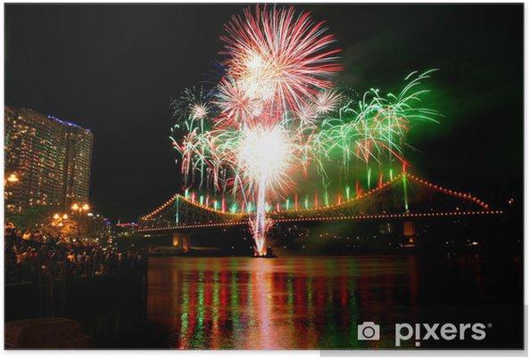 Plakát River taneční festival ohňostrojů v Brisbane - Mezinárodní svátky
