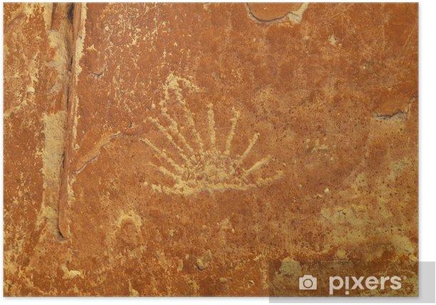 Plakat Rock Art - Ute petroglify - Ameryka