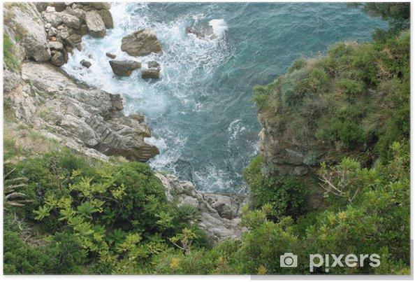 Plakat Rock i drzewa nad morzem, Dubrownik - Europa