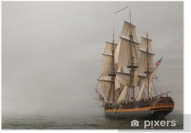Plakat Rocznik fregaty żeglowanie w mgły - Tematy
