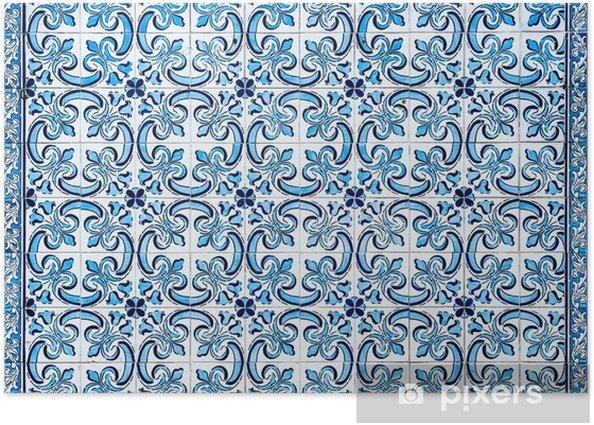 Plakat Rocznika azulejos, tradycyjne portugalskie płytki - Abstrakcja