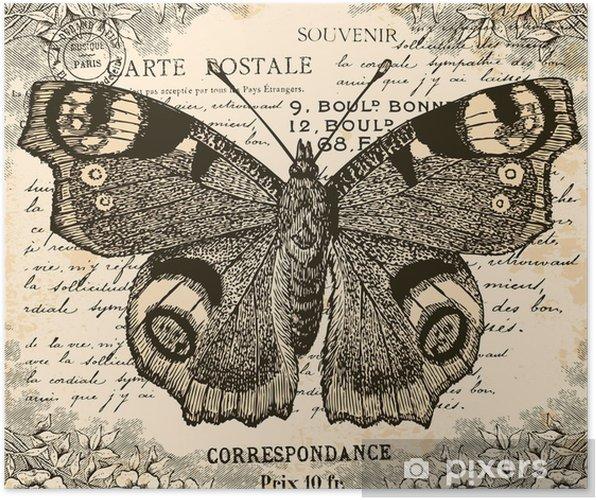 Plakat Rocznika motyl - Style