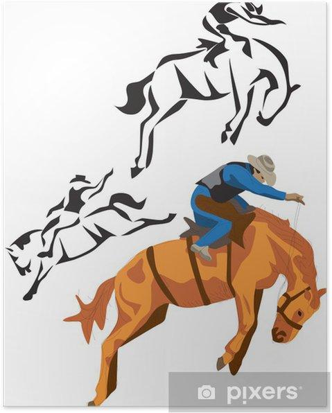 Plakat Rodeo koni - Sporty indywidualne