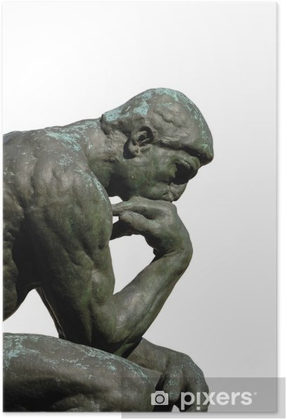 Plakat Rodin Myśliciel. - Budynki użyteczności publicznej