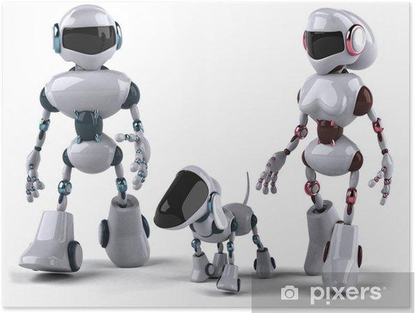 Plakat Rodzina robotów - Znaki i symbole