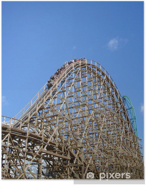 Plakat Roller coaster - Rozrywka