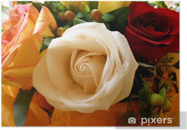 Plakat Romantic Bouquet: Trzy odmian róż - Dom i ogród