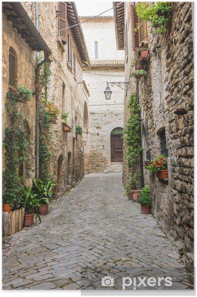 Plakat Romantyczna uliczka Włoski - Tematy
