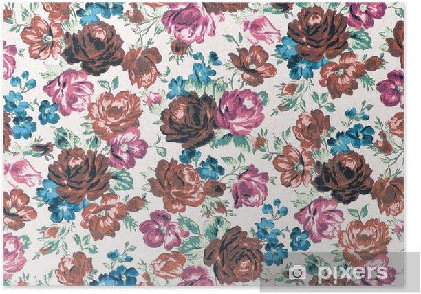 Plakat Rose Fabric background, vintage efekt kolorystyczny - Zasoby graficzne