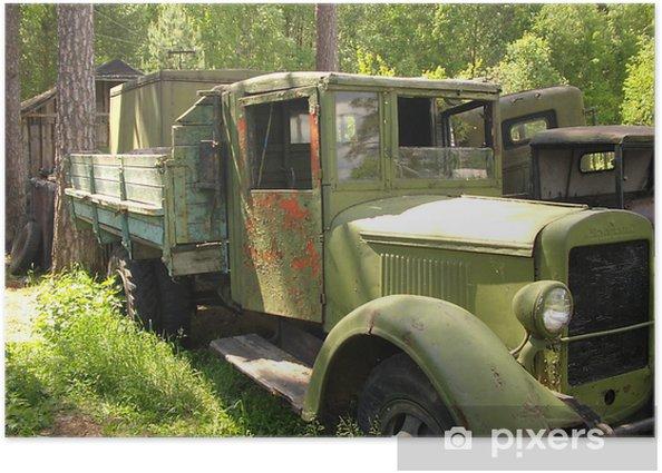 Plakat Rosyjski militarian ciężarówka - Transport drogowy