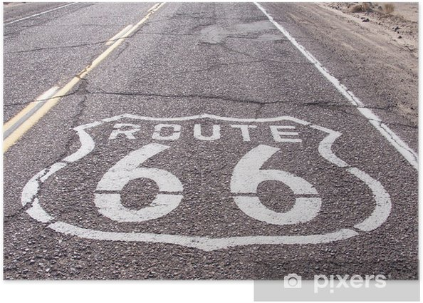 Plakat Route 66 - Tematy