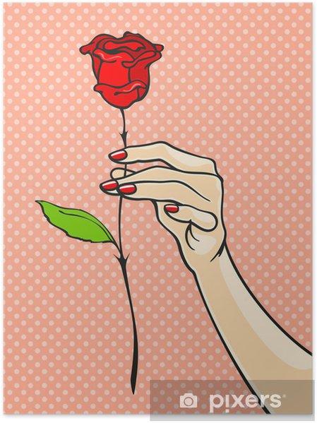 Plakat Róża w dłoni - Tematy