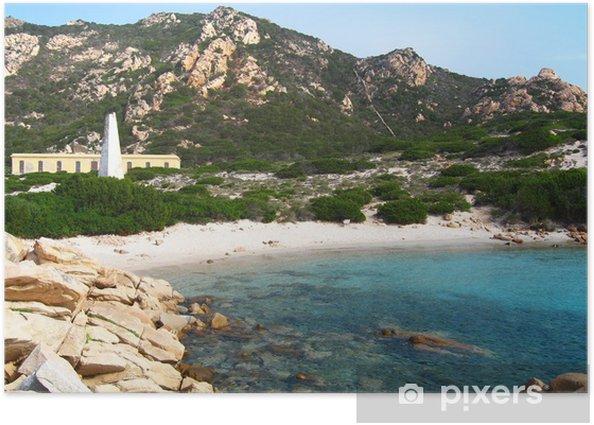 Plakat Rozmycie Island, Archipelag La Maddalena - Sardynia - Europa