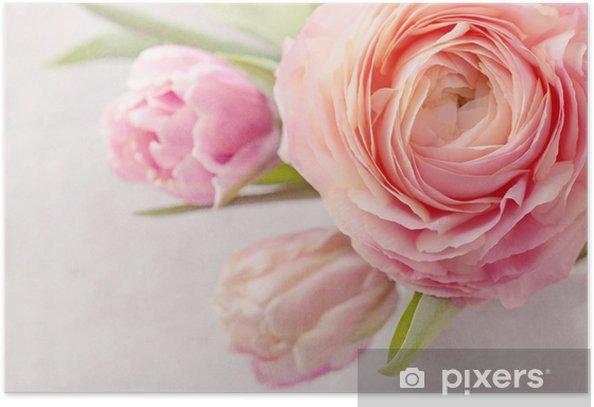 Plakat Różowe kwiaty - Tematy