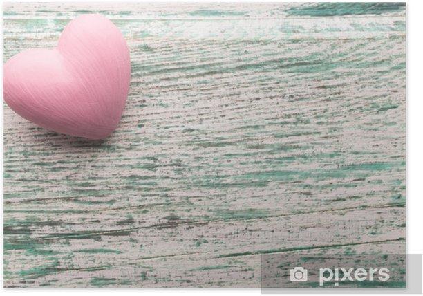 Plakat Różowe serce. - Święta międzynarodowe