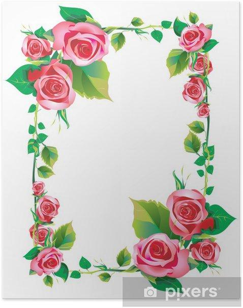 Plakat Różowy - Drzewa