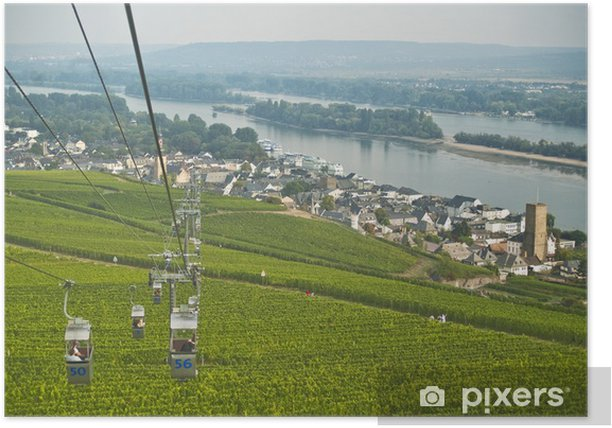 Plakat Rüdesheim kolejka linowa - Europa