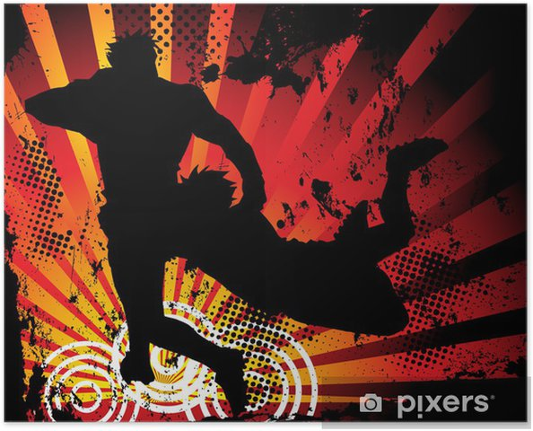 Plakat Rugby Players Silhouette - Rugby
