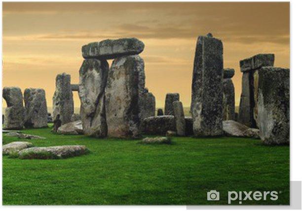 Plakat Ruiny Stonehenge - Europa