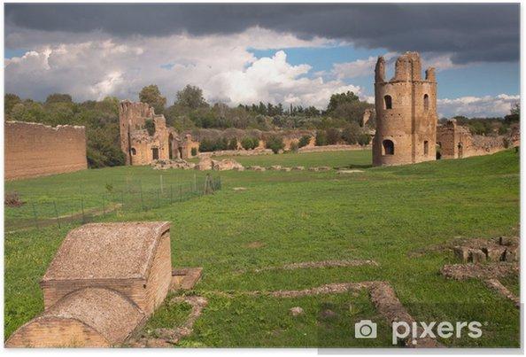 Plakat Ruiny z cyrku Maksencjusza w Rzymie - Włochy - Tematy