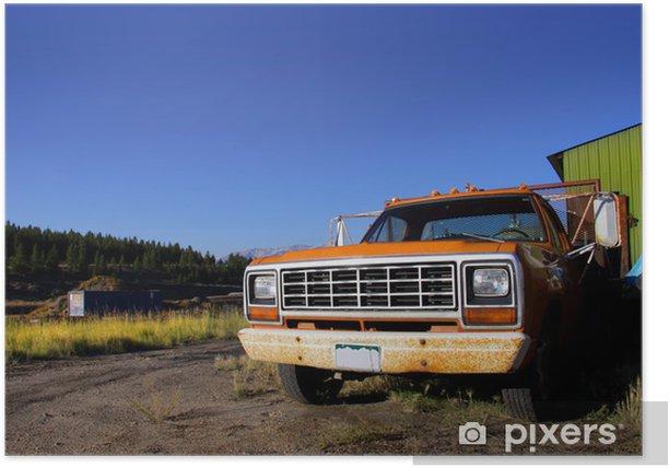 Plakat Rustykalne truck - Transport drogowy