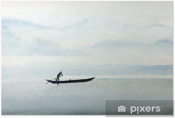Plakat Rybacy na łodzi - Ludzie