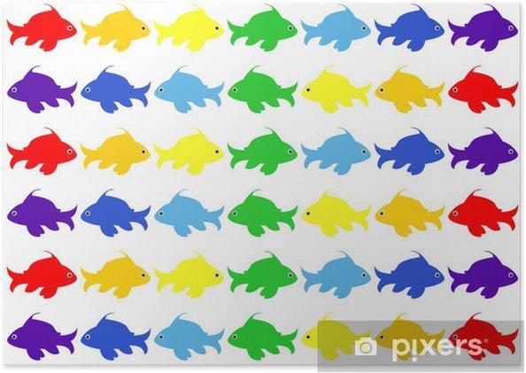 Plakat Ryby do przedszkola wzór - Fikcyjne zwierzęta