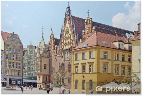 Plakat Rynek we Wrocławiu, Polska - Europa